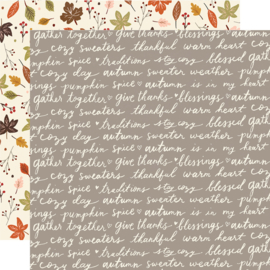 "Cozy Days Harvest Wishes Double Sided 12x12"" - Unit of 5"