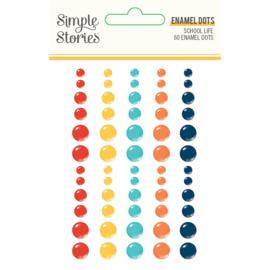 School Life - Enamel Dots- Unit of 3