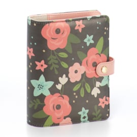 Black Blossom Personal Planner Cover- Unit of 1