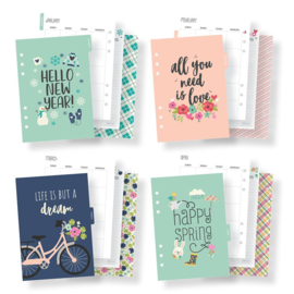 A5 Seasons Monthly Planner Inserts- Unit of 3