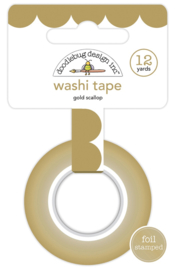 Gold Scallop Washi Tape - Unit of 3