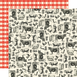 "Apron Strings -  Farm to Table Double Sided 12x12"" - Unit of 5"