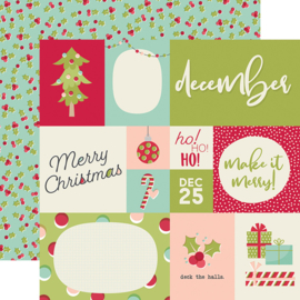"Best Year Ever December Double Sided 12x12"" - Unit of 5"