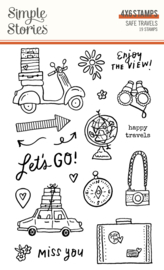 Safe Travels - Stamps - Unit of 2
