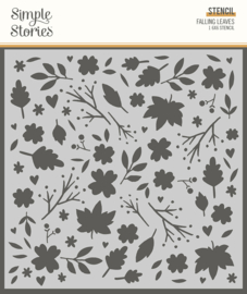 Cozy Days 6x6 Stencil - Falling Leaves - Unit of 3