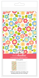 Country Garden Daily Doodles Travel Planner Inserts - Unit of 1
