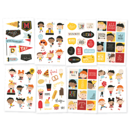 Say Cheese 4 4x6 Happy Kids Stickers - Unit of 3