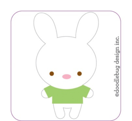 Bunnies Beans Sweet Rolls Mini Icon Stickers  - Unit of 3