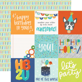 "Birthday Blast 4x4 Elements Double Sided 12x12"" - Unit of 5"