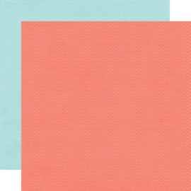 """Hey, Crafty Girl Salmon/Sky Dots Double Sided 12x12"""" - Unit of 5"""