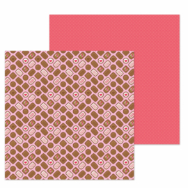 "Bonbons Double Sided 12x12""  - Unit of 5"