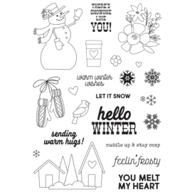 Winter Farmhouse 4x6 Stamps - Unit of 2