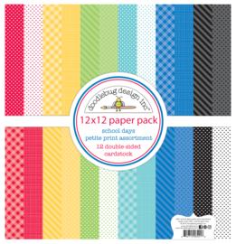 School Days 12x12 Petite Prints  - unit of 1