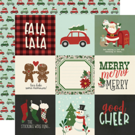"Jingle All the Way - 4x4 Elements Double Sided 12x12"" - Unit of 5"