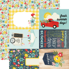"Summer Farmhouse 4x6 Elements Double Sided 12x12"" - Unit of 5"