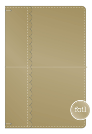 Gold Daily Doodles Travel Planner - Unit of 1