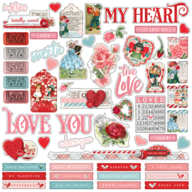 My Valentine Combo Stickers - unit of 3