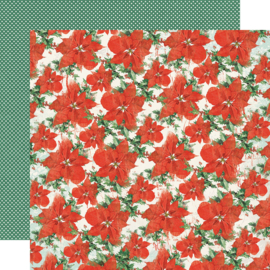 """Country Christmas Holiday Greetings Double Sided 12x12"""" - Unit of 5"""