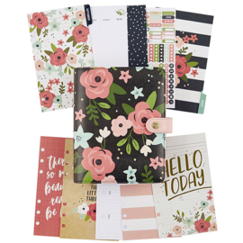 Black Blossom Personal Planner Boxed Set- Unit of 1