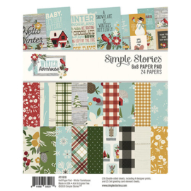 Winter Farmhouse 6x8 Paperpad - unit of 3