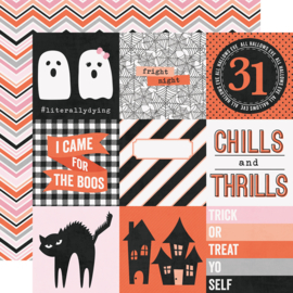 "Happy Haunting 4x4 Elements Double Sided 12x12"" - Unit of 5"