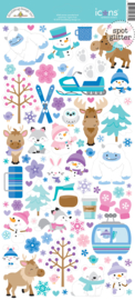 Winter Wonderland Icons Stickers - unit of 3