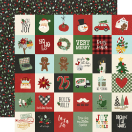 "Jingle All the Way - 2x2 Elements Double Sided 12x12"" - Unit of 5"