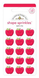 Apple a Day Shape Sprinkles - unit of 3