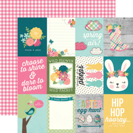 "Hip Hop Hooray 3x4 Elements Double Sided 12x12"" - Unit of 5"