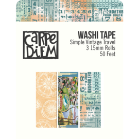 Simple Vintage Traveler Washi Tape - Unit of 3