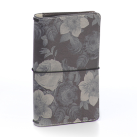 Black Vintage Floral Traveler's Notebook- Unit of 1