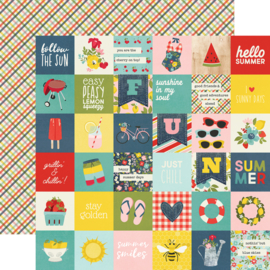 "Summer Farmhouse 2x2 Elements Double Sided 12x12"" - Unit of 5"