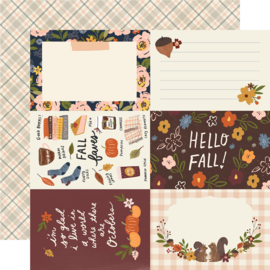 "Cozy Days Cozy Days -4x6 Elements Double Sided 12x12"" - Unit of 5"
