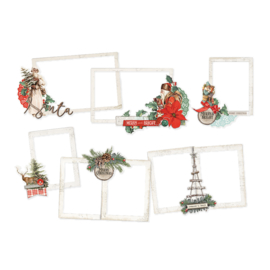 Country Christmas Chipboard Layered Frames- Unit of 3