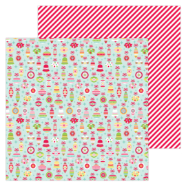 """Deck the Halls 12x12"""" Double Sided 12x12""""  - Unit of 5"""