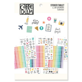 A5 Calendar Sticker Tablet - Unit of 3