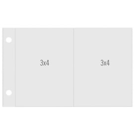 Snap Horizontal 3x4/3x4 Pocket Pages - Unit of 6