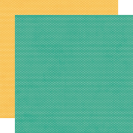 """Hey, Crafty Girl Turquoise/Sunflower Dots Double Sided 12x12"""" - Unit of 5"""