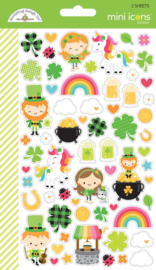 Lots o' Luck Mini  Icon Stickers   - Unit of 3