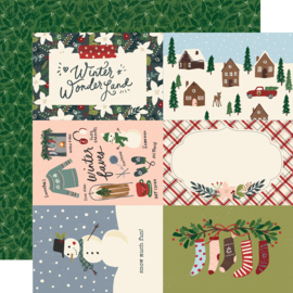 "Winter Cottage- 4x6 Elements Double Sided 12x12"" - Unit of 5"