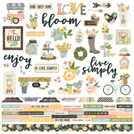 Spring Farmhouse Combo Stickers Sheet - Unit of 3