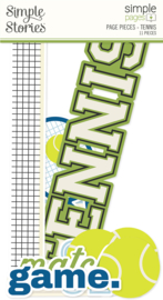 Simple Pages Page Pieces - Tennis - unit of 6