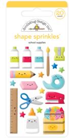 School Supplies Shape Sprinkles - unit of 3