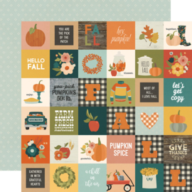"Fall Farmhouse 2x2 Elements Double Sided 12x12"" - Unit of 5"