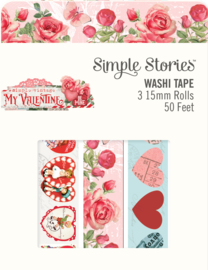 My Valentine Washi Tape - Unit of 3