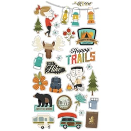 Happy Trails 6x12 Chipboard - Unit of 3