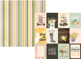 """Spring Farmhouse 3x4 Elements Double Sided 12x12"""" - Unit of 5"""