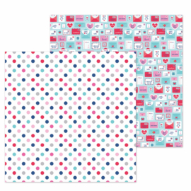 "Love You Dots Double Sided 12x12""  - Unit of 5"