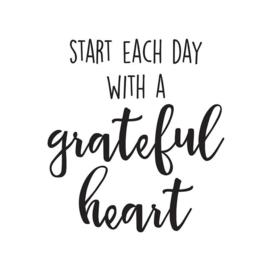 Grateful Heart Black Planner Decal - Unit of 3