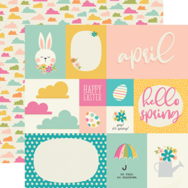 "Best Year Ever April Double Sided 12x12"" - Unit of 5"